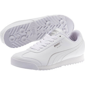 Thumbnail 2 of Roma Metallic Stitch Women's Sneakers, Puma White-Puma Silver, medium