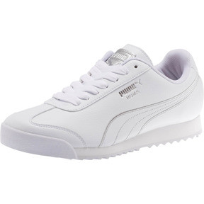 Thumbnail 1 of Roma Metallic Stitch Women's Sneakers, Puma White-Puma Silver, medium