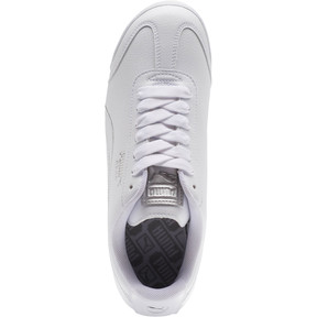 Thumbnail 5 of Roma Metallic Stitch Women's Sneakers, Puma White-Puma Silver, medium