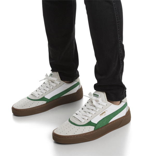 Cali-0 Vintage Trainers, Puma White-Amazon Green-Gum, large