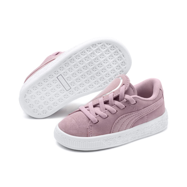 Suede Crush AC Sneakers PS, Pale Pink-Puma Silver, large