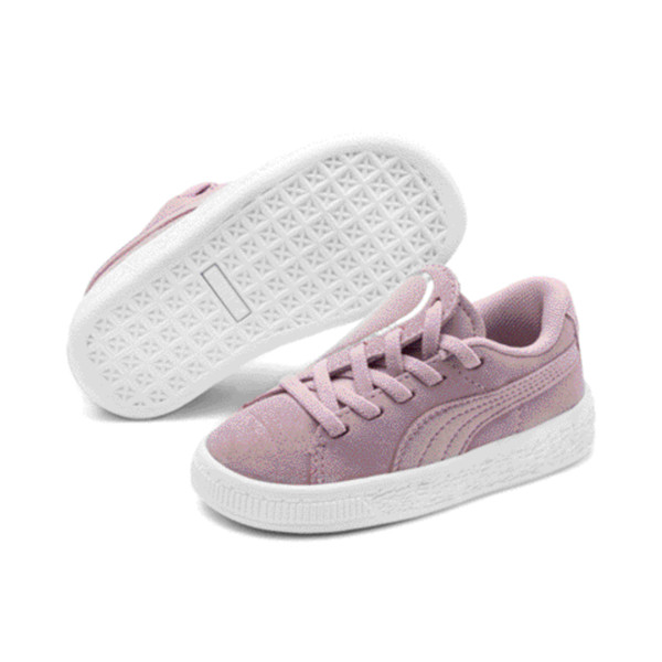 Suede Crush AC Toddler Shoes, Pale Pink-Puma Silver, large