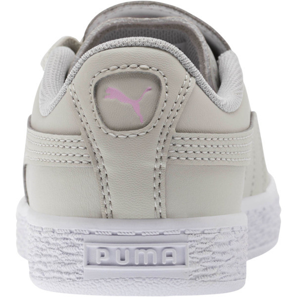 Basket Crush Glitter Hearts AC Sneakers PS, Gray Violet-Puma White, large