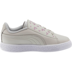 Thumbnail 4 of Basket Crush Glitter Hearts AC Sneakers PS, Gray Violet-Puma White, medium