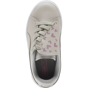 Thumbnail 5 of Basket Crush Glitter Hearts AC Sneakers PS, Gray Violet-Puma White, medium