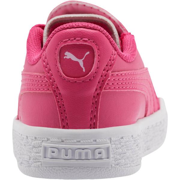 Basket Crush Glitter Hearts AC Toddler Shoes, Fuchsia Purple-Puma White, large