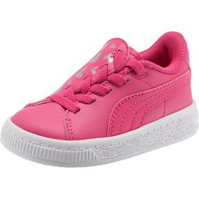 Thumbnail 1 of Basket Crush Glitter Hearts AC Toddler Shoes, Fuchsia Purple-Puma White, medium