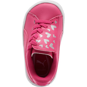 Thumbnail 6 of Basket Crush Glitter Hearts AC Toddler Shoes, Fuchsia Purple-Puma White, medium