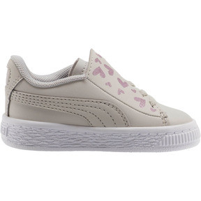 Thumbnail 4 of Basket Crush Glitter Hearts AC Toddler Shoes, Gray Violet-Puma White, medium