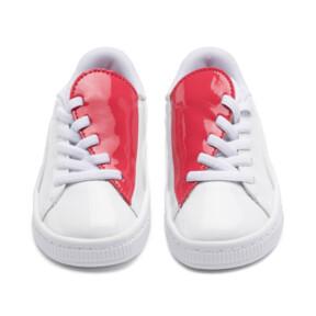 Thumbnail 3 of Basket Crush Patent AC Sneakers PS, Puma White-Hibiscus, medium