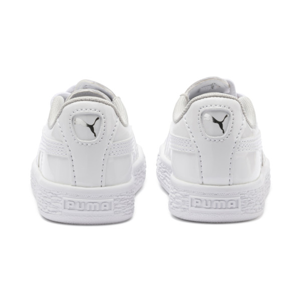 Basket Crush Patent AC Sneakers PS, Puma White-Puma White, large
