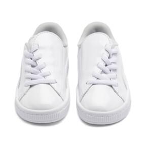 Thumbnail 7 of Basket Crush Patent AC Sneakers PS, Puma White-Puma White, medium