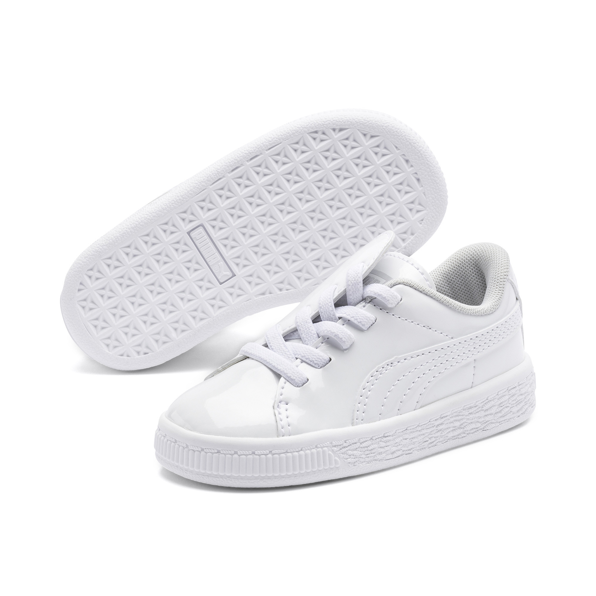 Image Puma Basket Crush Patent Kids' PreSchool Sneakers #2
