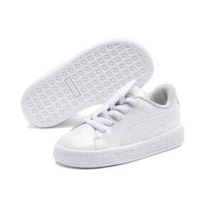 Thumbnail 2 of Basket Crush Patent AC Sneakers PS, Puma White-Puma White, medium