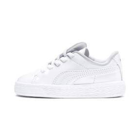 Thumbnail 1 of Basket Crush Patent AC Sneakers PS, Puma White-Puma White, medium