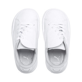 Thumbnail 6 of Basket Crush Patent AC Sneakers PS, Puma White-Puma White, medium
