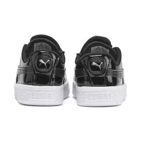 Thumbnail 3 of Basket Crush Patent AC Sneakers PS, Puma Black-Puma White, medium