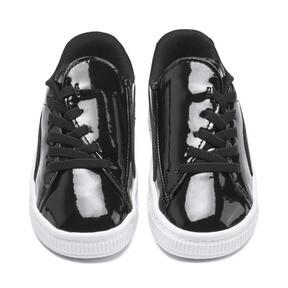 Thumbnail 7 of Basket Crush Patent AC Sneakers PS, Puma Black-Puma White, medium