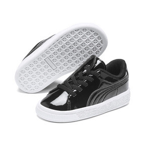 Thumbnail 2 of Basket Crush Patent AC Sneakers PS, Puma Black-Puma White, medium