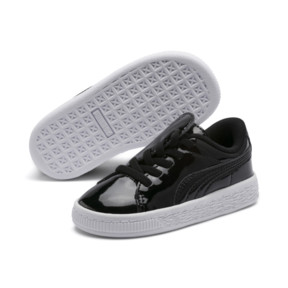 Thumbnail 1 of Basket Crush Patent AC Sneakers PS, Puma Black-Puma White, medium