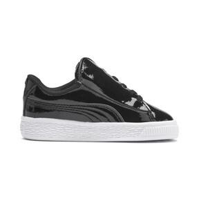 Thumbnail 5 of Basket Crush Patent AC Sneakers PS, Puma Black-Puma White, medium