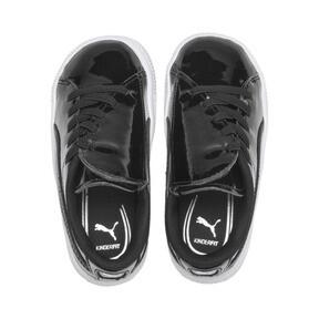 Thumbnail 6 of Basket Crush Patent AC Sneakers PS, Puma Black-Puma White, medium