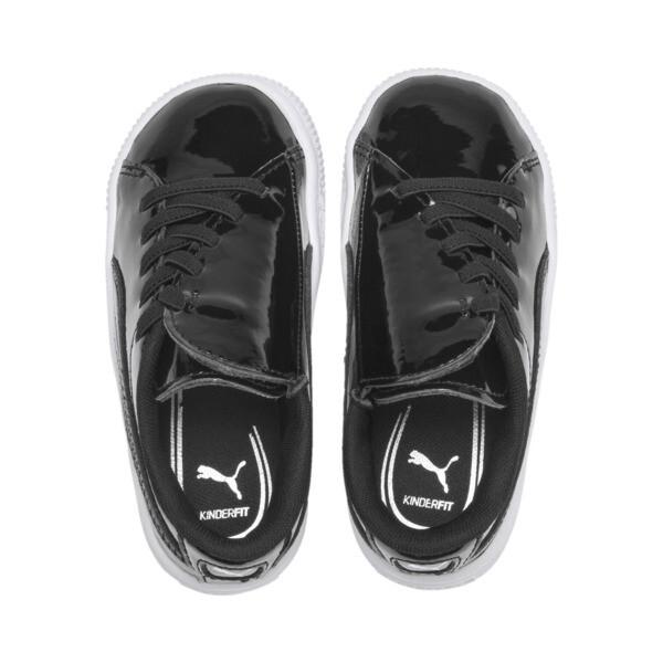 Basket Crush Patent AC Sneakers PS, Puma Black-Puma White, large