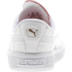 Thumbnail 4 of Basket Crush Patent AC Toddler Shoes, Puma White-Hibiscus, medium