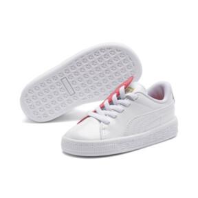 Thumbnail 2 of Basket Crush Patent AC Toddler Shoes, Puma White-Hibiscus, medium