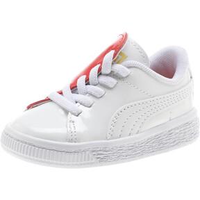 Thumbnail 1 of Basket Crush Patent AC Toddler Shoes, Puma White-Hibiscus, medium