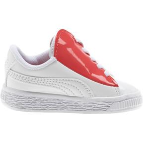 Thumbnail 5 of Basket Crush Patent AC Toddler Shoes, Puma White-Hibiscus, medium