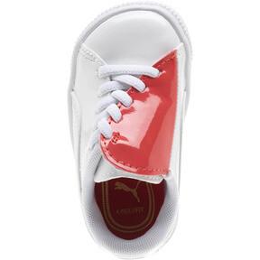 Thumbnail 6 of Basket Crush Patent AC Toddler Shoes, Puma White-Hibiscus, medium