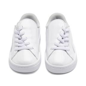 Thumbnail 2 of Basket Crush Patent Baby Girls' Trainers, Puma White-Puma White, medium