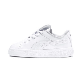 Thumbnail 1 of Basket Crush Patent AC Toddler Shoes, Puma White-Puma White, medium