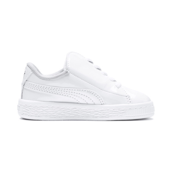 Basket Crush Patent AC Sneakers INF, Puma White-Puma White, large