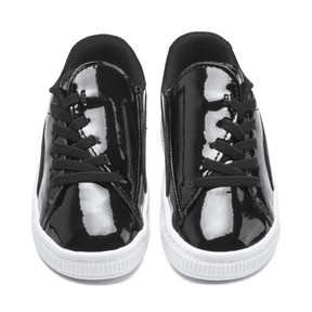 Thumbnail 7 of Basket Crush Patent AC Toddler Shoes, Puma Black-Puma White, medium