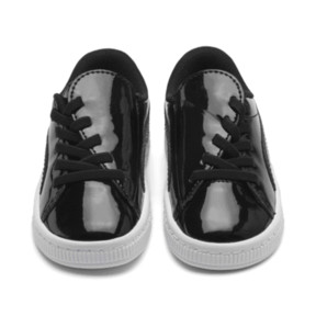 Thumbnail 2 of Basket Crush Patent AC Toddler Shoes, Puma Black-Puma White, medium