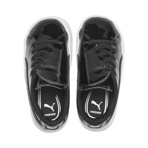 Thumbnail 6 of Basket Crush Patent AC Toddler Shoes, Puma Black-Puma White, medium