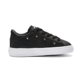 Thumbnail 5 of Basket Studs Kid Girls' Trainers, Puma Black-Puma Silver, medium