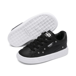 Thumbnail 2 of Chaussure Basket Studs pour bébé fille, Puma Black-Puma Silver, medium
