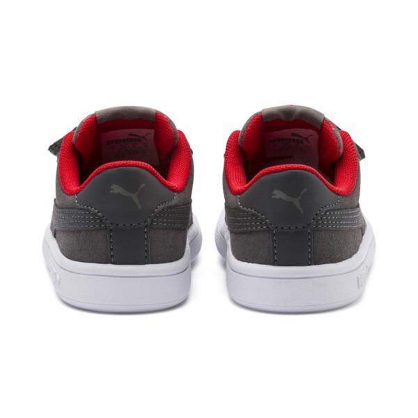 Zapatillas de niño Smash v2 Monster, Asphalt-C. Gray-Red-White, grande