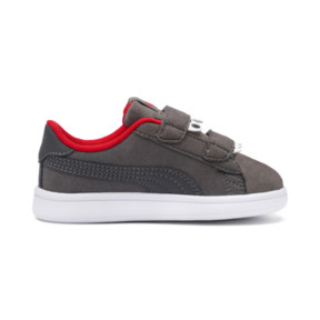 Thumbnail 5 of PUMA Smash v2 Monster Sneakers PS, Asphalt-C. Gray-Red-White, medium