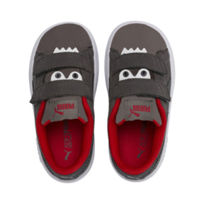 Imagen en miniatura 6 de Zapatillas de niño Smash v2 Monster, Asphalt-C. Gray-Red-White, mediana