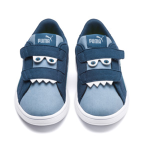 Thumbnail 7 of Smash v2 Monster Kids' Trainers, Gibraltar Sea-Faded Denim, medium