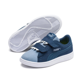 Thumbnail 2 of Smash v2 Monster Kids' Trainers, Gibraltar Sea-Faded Denim, medium