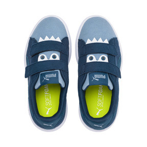 Thumbnail 6 of Smash v2 Monster Kids' Trainers, Gibraltar Sea-Faded Denim, medium