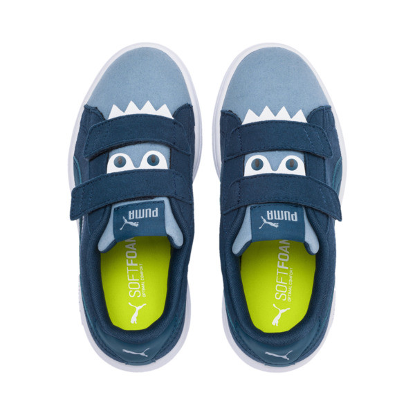 Smash v2 Monster Kids' Trainers, Gibraltar Sea-Faded Denim, large