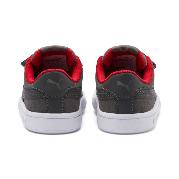 Smash v2 Monster Baby Sneaker, Asphalt-C. Gray-Red-White, large