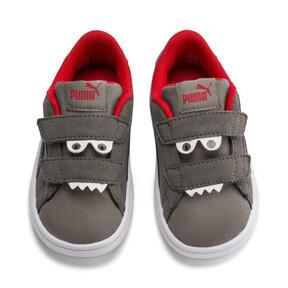 Thumbnail 7 of PUMA Smash v2 Monster Toddler Shoes, Asphalt-C. Gray-Red-White, medium