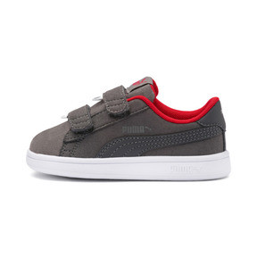 Thumbnail 1 of PUMA Smash v2 Monster Babies' Trainers, Asphalt-C. Gray-Red-White, medium